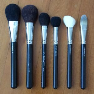 6 MAC Face Brushes